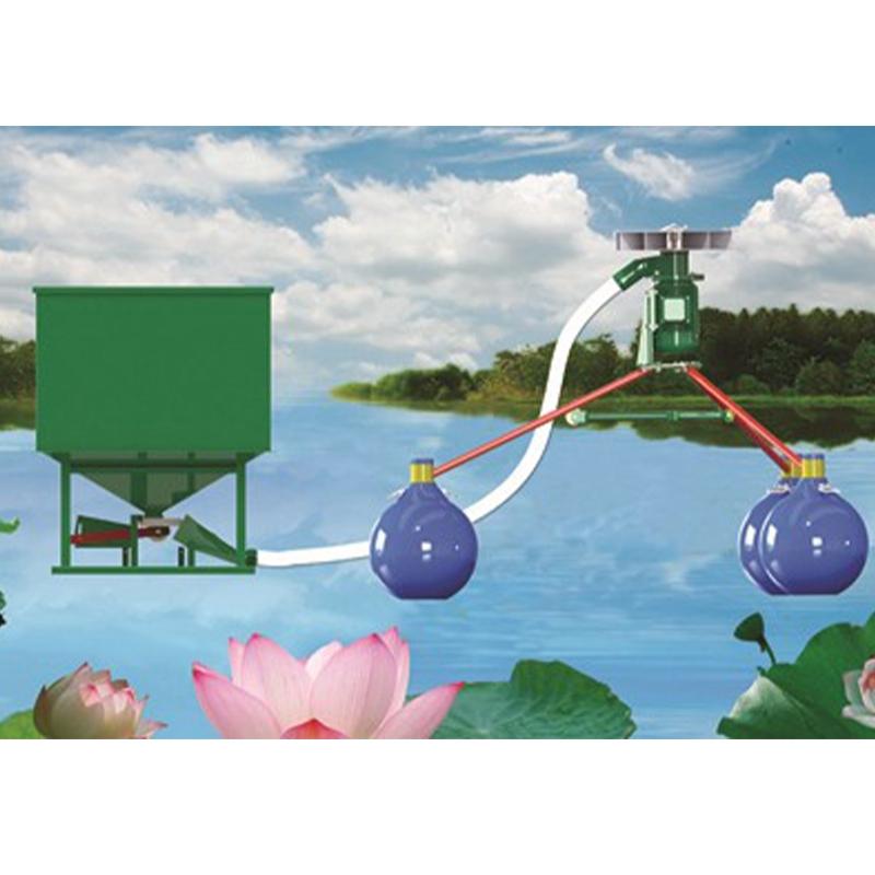 STFZ-3000W气动式鱼塘投饲机